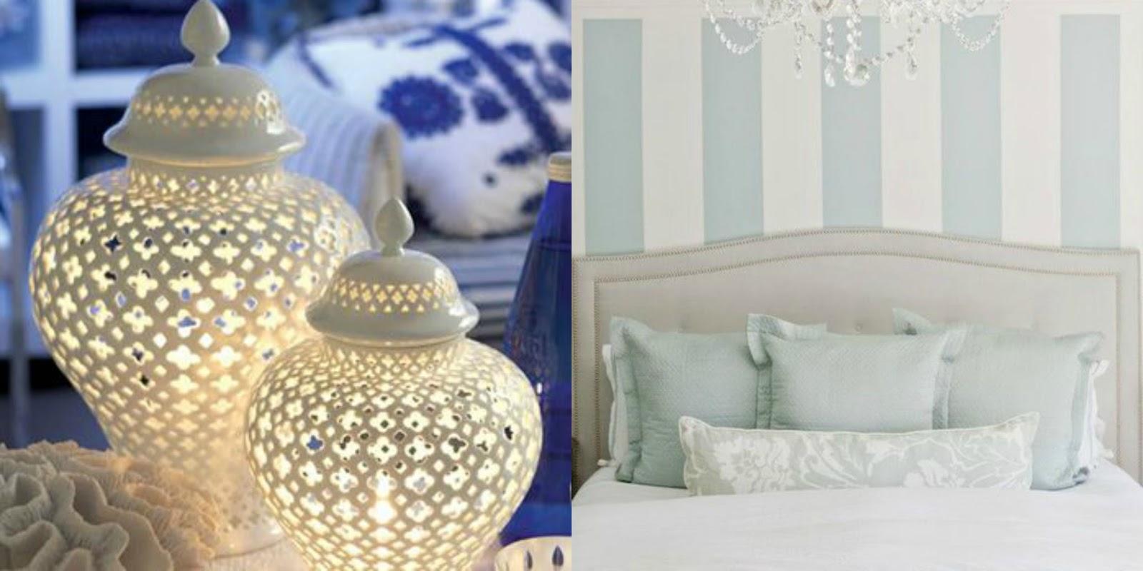 Duck Egg Blue Bedroom Ornaments