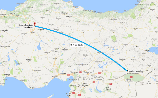 Mardin'den - Ankara'ya uçak bileti