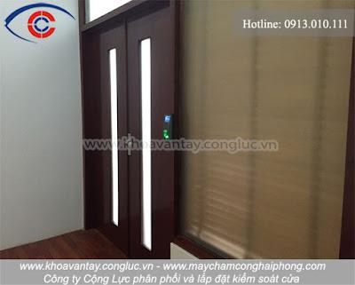 Hoàn thành lắp đặt kiểm soát cửa tại công ty viễn thông Mobifone Hải Phòng khu vực 5 - Lê Hồng Phong - Hải Phòng.