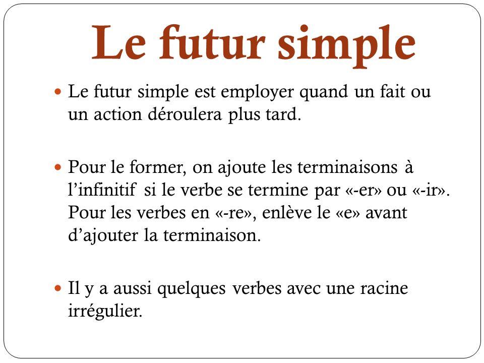 Le Futur Simple Cours De Francais