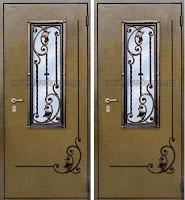 """Дверь с ковкой """"Левкой"""""""