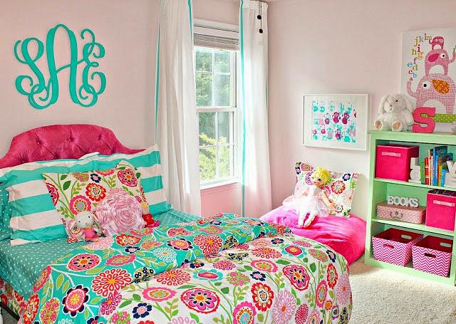 carolina on my mind: Turquoise and Pink Big Girl Bedroom ...