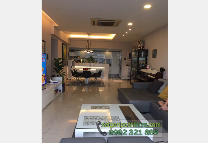 bán căn hộ Saigon Pearl tầng 3 view sông - không gian phòng khách