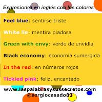 Expresiones en inglés con los colores