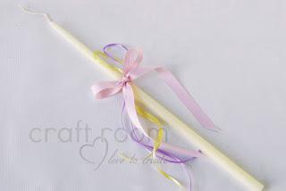 κεράκι βάπτισης ροζ μωβ λευκό καρδούλα κορτσάκι άνοιξη καλοκαίρι