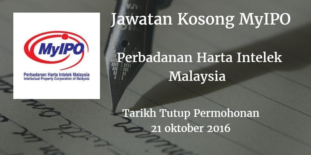Jawatan Kosong MyIPO 21 Oktober 2016