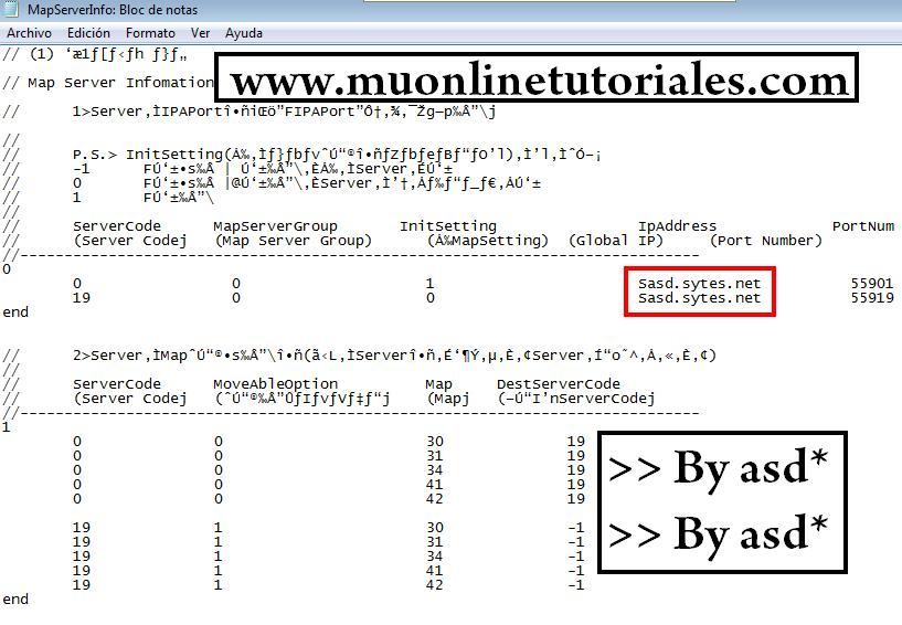 Configuración de ips en el mapserverinfo