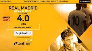 betfair supercuota 4 Real Madrid gana Betis Liga 12 marzo