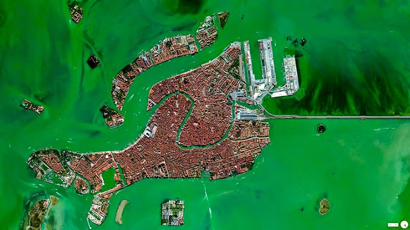 6. Venice, Italy - 17 Breathtaking Satellite Photos That Will Change How You See Our World