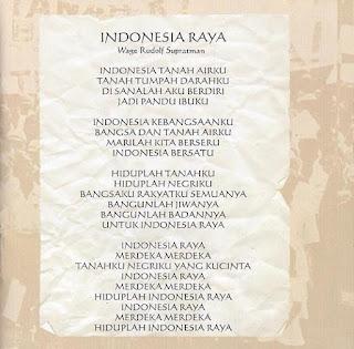 Lirik Lagu Indonesia Raya Cipt WR Supratman