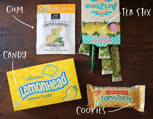 Lemonade-Inspired Care Package Treats