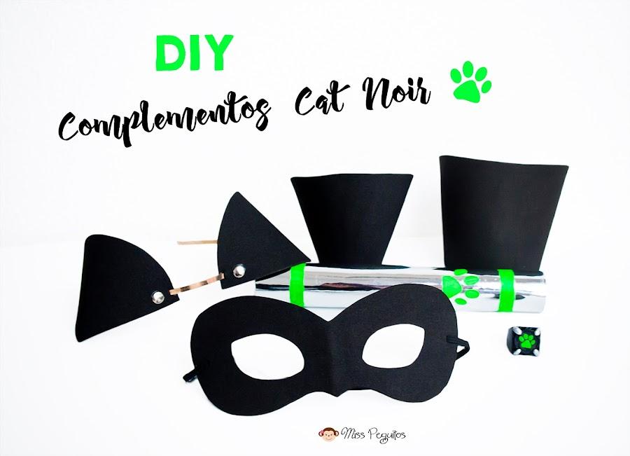 diy complementos disfraz cat noir costume complements