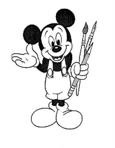 Desenhos Para Pintar Mickey Mouse E Sua Turma