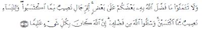 Surat An Nisaa' ayat 32 Tentang Iri dan Dengki