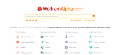 WolframAlpha motore di ricerca