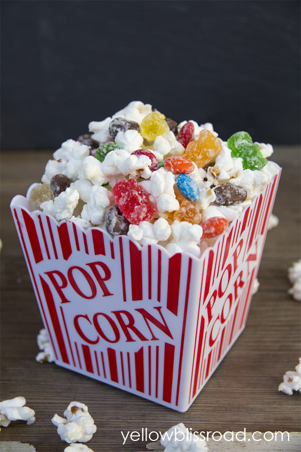 Movie Theater Candy Popcorn Yellow Bliss Road