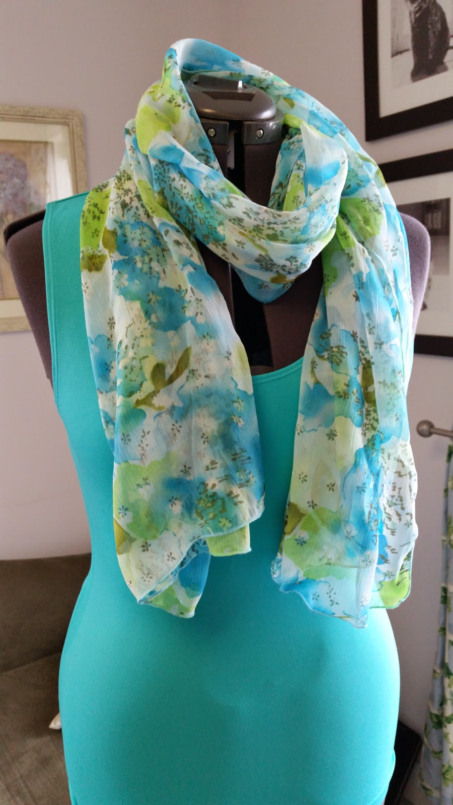 Sewing Spring Silk Scarves