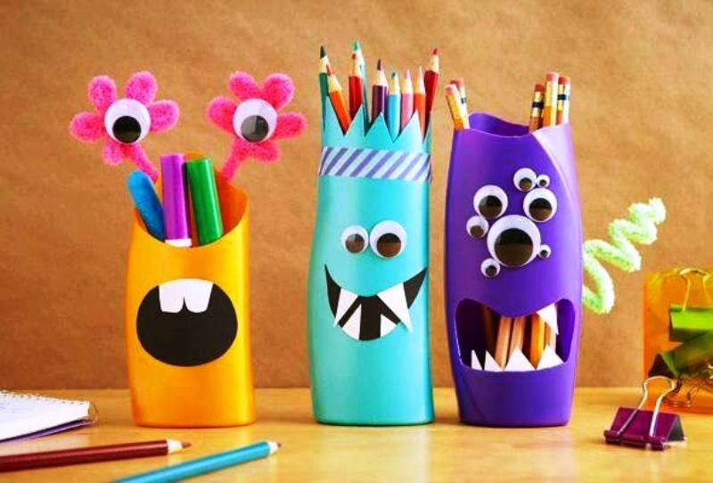 botol-bekas-sampo. Kerajinan tempat pensil dari ... 75ac92fb88