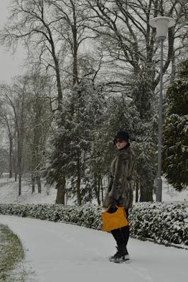 winter photoshoot with fur coat, vintage handbag lucky find, cloche hat wearing, georgiana quaint, quaintrelle blog, i love winter