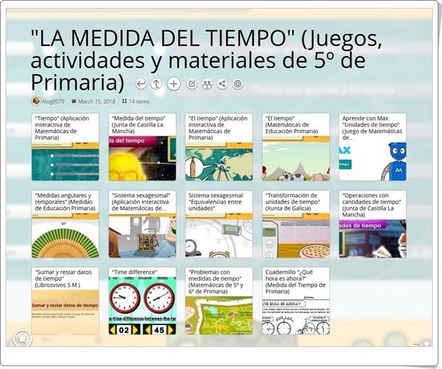 """""""14 Juegos, actividades y materiales para el estudio de LA MEDIDA DEL TIEMPO en 5º de Primaria"""""""