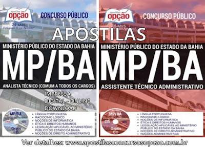 Apostilas Ministério Público da Bahia - Assistente Técnico e Analista Técnico