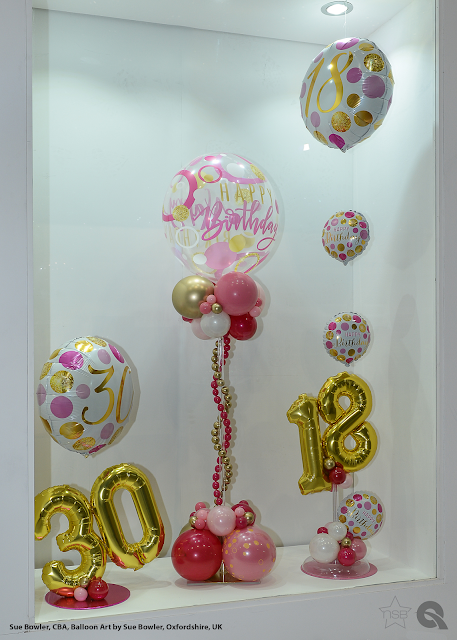 Window Display by Sue Bowler of BalloonArt by Sue Bowler