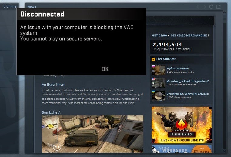 Cant connect to matchmaking servers csgo