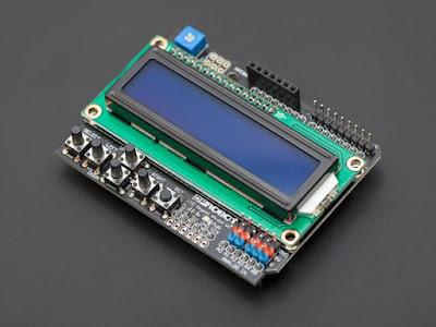 Shield-ul cu LCD și butoane (sursa: DFRobot)