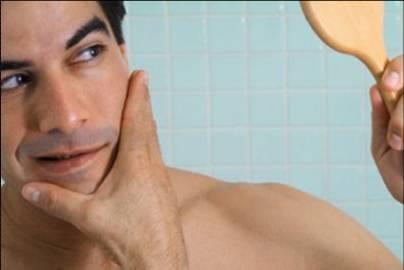 Reduzir pele irritação como barbear por da a