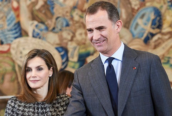 King Felipe and Queen Letizia attended an audience and  a minute's silence in memory of the victims in the French city of Nice,