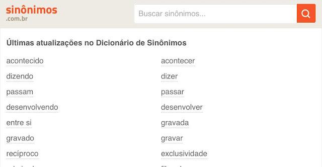 Dicionário de sinônimos português