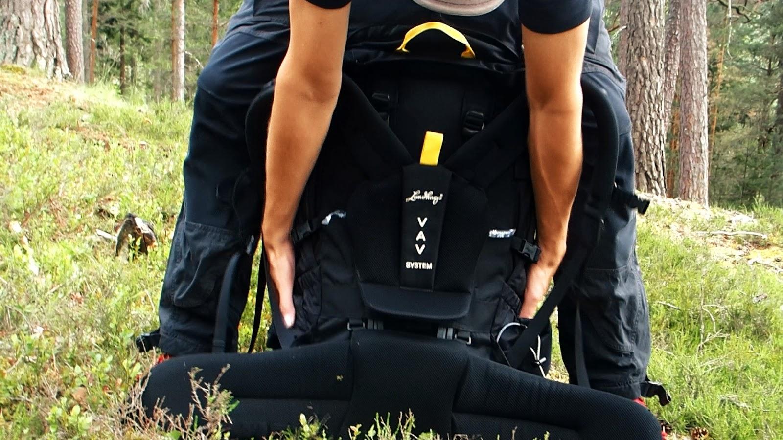 Hur du tar på en stor och tung ryggsäck smidigt!