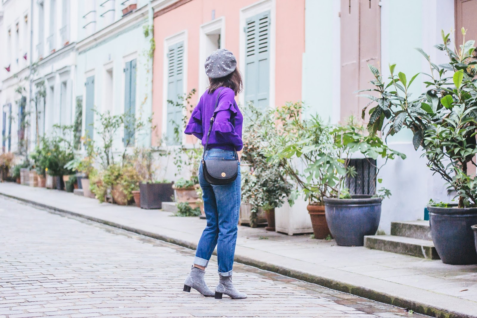 sinequanonelook - Purple Sweater and Vibrant Homes