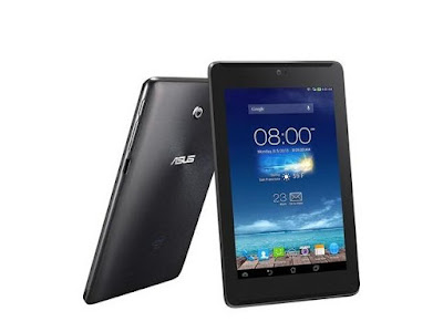 Asus Fonepad Specifications - LAUNCH Announced 2013, February  Also available with a 1.6 GHz Intel Atom Z2460 processor and 32 GB of built-in storage DISPLAY Type IPS LCD capacitive touchscreen, 16M colors Size 7.0 inches (~60.2% screen-to-body ratio) Resolution 800 x 1280 pixels (~216 ppi pixel density) Multitouch Yes, up to 10 fingers BODY Dimensions 196.4 x 120.1 x 10.4 mm (7.73 x 4.73 x 0.41 in) Weight 340 g (11.99 oz) SIM Micro-SIM PLATFORM OS Android OS, v4.1 (Jelly Bean) CPU 1.2 GHz / 1.6 GHz Chipset Intel Atom Z2420 / Intel Atom Z2460 GPU PowerVR SGX540 MEMORY Card slot microSD, up to 32 GB (dedicated slot) Internal 8/16 GB, 1 GB RAM CAMERA Primary 3.15 MP, autofocus (selected markets only) Secondary 1.2 MP Features Geo-tagging Video 720p NETWORK Technology GSM / HSPA 2G bands GSM 850 / 900 / 1800 / 1900 3G bands HSDPA 850 / 900 / 1900 / 2100 Speed HSPA 21.1/5.76 Mbps GPRS Class 10 EDGE Class 10 COMMS WLAN Wi-Fi 802.11 b/g/n, hotspot GPS Yes, with A-GPS, GLONASS USB microUSB v2.0 Radio No Bluetooth v3.0, A2DP FEATURES Sensors Accelerometer, proximity, compass Messaging SMS(threaded view), MMS, Email, Push Email, IM Browser HTML5 Java No SOUND Alert types Vibration; MP3, WAV ringtones Loudspeaker Yes 3.5mm jack Yes  - Active noise cancellation with dedicated mic BATTERY  Non-removable Li-Ion 4270 mAh battery (16 Wh) Stand-by  Talk time Up to 9 h (multimedia) Music play  MISC Colors Titanium Gray, Champagne Gold  - MP3/WAV/eAAC+ player - MP4/H.264 player - Document viewer - Photo viewer/editor