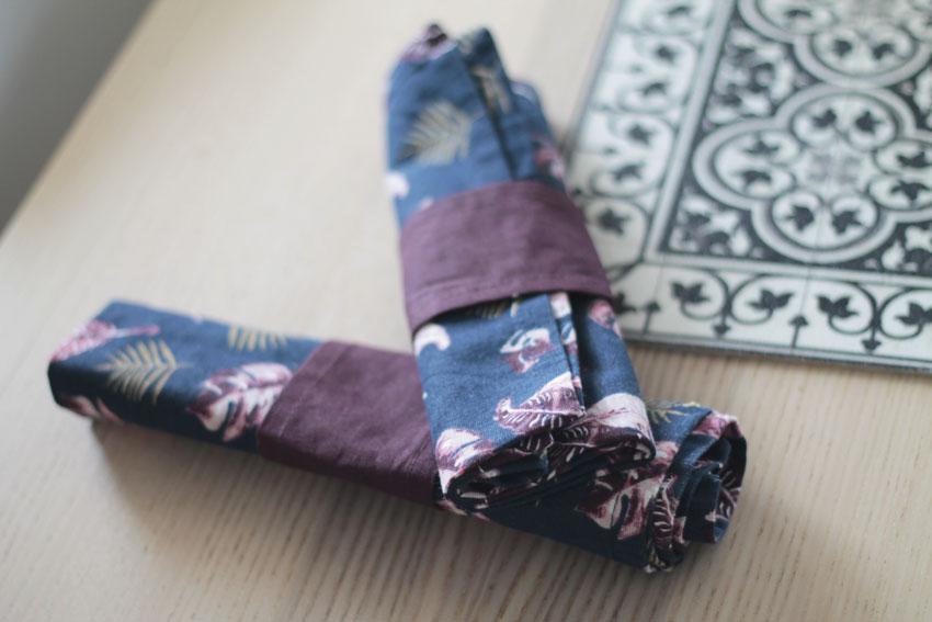 serviette tissu réutilisable