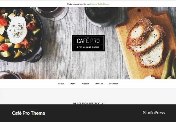 Cafe Pro Theme Award Winning Pro Themes for Wordpress Blog : Award Winning Blog
