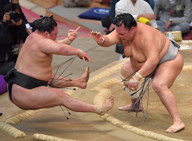 Grand Sumo Tournament, at International Center, Fukuoka