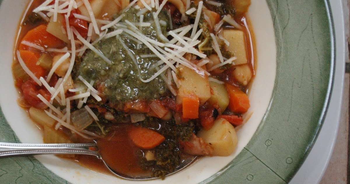 The Spice Garden: Minestrone and Savory Bread Pudding