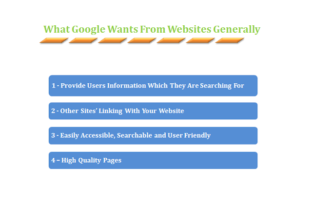 What Google Wants In General From Webmasters