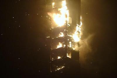 Hotel Pencakar Langit Bintang 5 Di Dubai Saat Terbakar