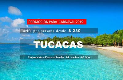 imagen Tucacas 04 noches 05 dias carnaval 2019