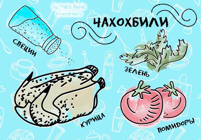 Чахохбили из курицы: ингредиенты