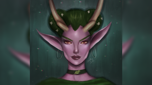 Hipster Lunara - Digital Painting Art