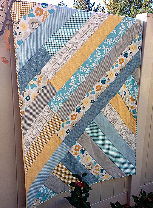 How To: Sew A Diagonal Strip Quilt