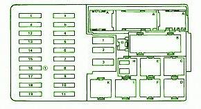 mercedes fuse box diagram: fuse box mercedes benz 87 ... mercedes benz e 420 fuse box diagram #3