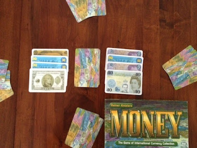 Reiner Knizia's Money card game in play