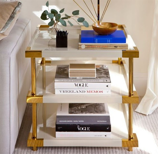 accent tables with shelves