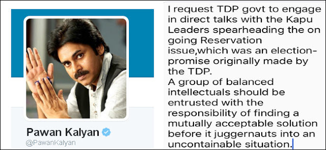 Pawan Kalyan Responded on Kapu Reservations Demand on Twitter