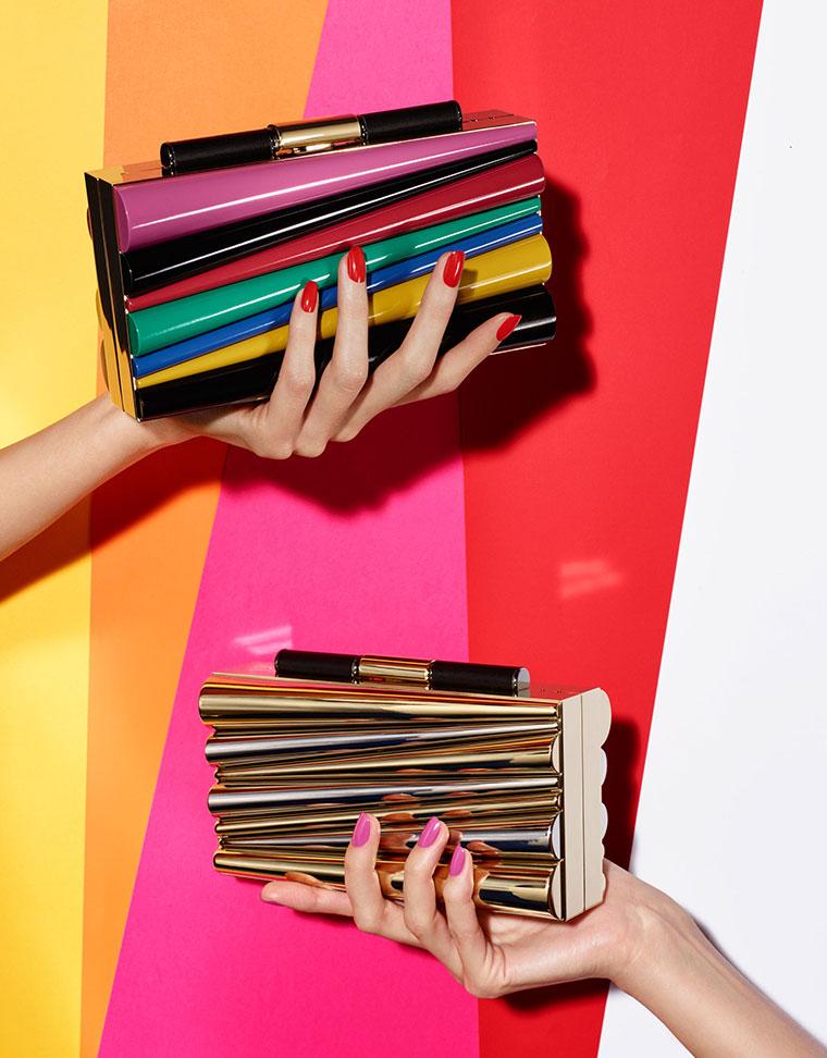 Colorful clutch bag