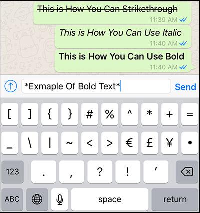 كيفية الكتابة بالخط العريض Bold فى الواتساب